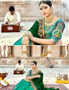 photo of Georgette Fabric Dark Green Color Festive Wear Saree With Embroidery Work