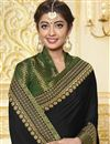 photo of Green Party Style Georgette Designer Saree With Fancy Border Work