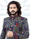 photo of Fancy Indian Groom Designer Sherwani In Banglori Silk