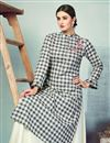 photo of Gorgeous Designer Party Wear Fancy Fabric Black Color Embroidery Work Readymade Kurti