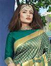 photo of Festive Wear Art Silk Fancy Weaving Work Saree In Teal