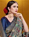 photo of Elegant Art Silk Navy Blue Saree For Festive Occasion