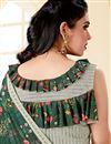 photo of Fancy Festive Wear Green Frill Border Work Saree In Lycra Fabric