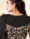 photo of Black Fancy Lycra Fabric Festive Wear Saree With Frill Border Work