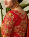 photo of Embroidered Jacquard Silk Fabric Bridal Lehenga In Cream with Designer Choli
