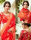 photo of Embroidered Wedding Wear Lehenga Choli In Jacquard Silk Fabric Rust