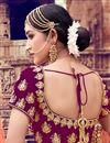 photo of Velvet Fabric Designer Bridal Lehenga With Embroidery Work On Purple