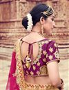 photo of Pink Sangeet Wear Lehenga With Embroidery Work In Satin Fabric