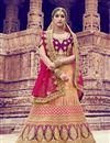 image of Pink Sangeet Wear Lehenga With Embroidery Work In Satin Fabric