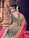 photo of Embroidery Work On Grey Designer Lehenga In Velvet Fabric With Blouse