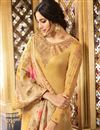 photo of Festive Wear Straight Cut Salwar Suit In Satin Georgette Fabric Cream Color