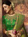 photo of Sea Green Weaving Work Art Silk Saree With Heavy Blouse