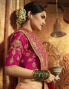 photo of Art Silk Weaving Work Peach Saree With Heavy Blouse