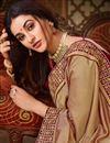 photo of Embroidery Work On Festive Wear Fancy Saree In Art Silk Fabric