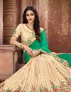photo of Embroidery Work On Art Silk Fabric Designer Saree In Sea Green Color With Admirable Blouse