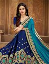 photo of Sky Blue Art Silk Reception Wear Saree With Fancy Embroidery Work