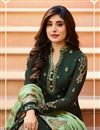 photo of Kritika Kamra Featuring Jacquard Fabric Dark Green Color Function Wear Embroidered Anarkali Suit