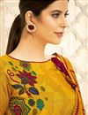 photo of Pashmina Fabric Daily Wear Fancy Printed Palazzo Dress In Mustard