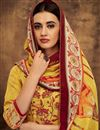 photo of Mustard Fancy Printed Casual Style Palazzo Dress In Pashmina Fabric