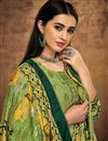 photo of Fancy Pashmina Fabric Casual Style Green Printed Palazzo Suit