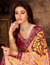 photo of Art Silk Fabric Designer Lace Work Saree In Peach Color With Attractive Blouse