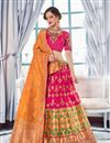 image of Occasion Wear Lehenga In Jacquard Silk Rani With Embroidery Work