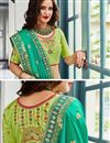 photo of Embroidered Wedding Wear Lehenga Choli In Jacquard Silk Green