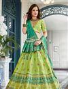 image of Embroidered Wedding Wear Lehenga Choli In Jacquard Silk Green