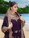 photo of Georgette Fabric Designer Embroidered Anarkali Salwar Kameez In Violet