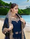 photo of Occasion Wear Georgette Fabric Embroidered Anarkali Salwar Kameez In Blue