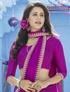 photo of Elegant Georgette Casual Wear Printed Magenta Saree