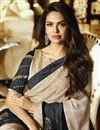 photo of Eid Special Esha Gupta Occasion Wear Chiffon Saree In Grey With Embroidery
