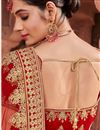 photo of Embroidered Velvet Fabric Designer 3 Piece Lehenga In Red