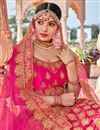 photo of Pink Party Wear Lehenga Choli In Silk Fabric With Embroidery Work
