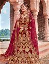 image of Velvet Fabric Maroon Occasion Wear Lehenga Choli With Embroidery Work