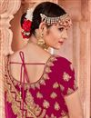 photo of Velvet Fabric Embroidered Rani Party Wear Lehenga With Enchanting Blouse
