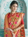 photo of Weaving Work On Art Silk Designer Saree In Multi Color With Attractive Blouse