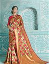 image of Weaving Work On Art Silk Designer Saree In Multi Color With Attractive Blouse