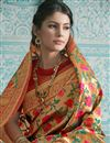 photo of Art Silk Multi Color Wedding Wear Saree With Weaving Work And Beautiful Blouse