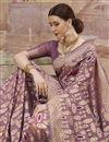 photo of Pink Designer Festive Wear Cotton Fabric Weaving Work Saree