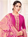 photo of Art Silk Fabric Casual Wear Fancy Rani Color Printed Straight Cut Suit