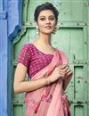 photo of Cotton Fabric Pink Designer Festive Wear Printed Saree
