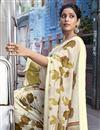 photo of Cotton Fabric Designer Festive Wear Beige Printed Saree