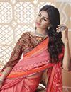 photo of Festive Wear Classic Pink Digital Printed Saree In Chiffon