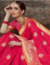 photo of Fancy Weaving Work On Pink Color Designer Saree In Art Silk Fabric