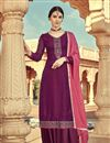 image of Soothing Purple Color Designer Viscose Fabric Palazzo Salwar Kameez