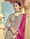 photo of Eid Special Occasion Wear Dark Beige Color Palazzo Suit In Viscose Fabric