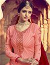 photo of Eid Special Sumptuous Peach Color Viscose Fabric Designer Palazzo Suit