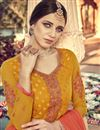 photo of Eid Special Mesmeric Mustard Color Designer Party Wear Viscose Fabric Palazzo Suit