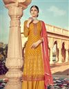image of Delightful Party Wear Mustard Color Designer Palazzo Suit